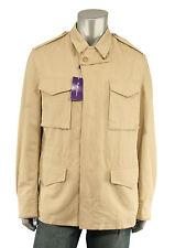 Ralph Lauren Purple Label Cotton Suede Safari Jacket XL New $2695