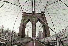 Brooklyn Bridge, New York City, Manhattan, Suspension, East River, NY - Postcard