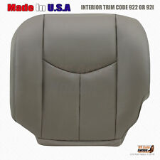 2005 2006 Chevy Silverado 2500HD Duramax Leather Seat Cover GRAY - Driver Side