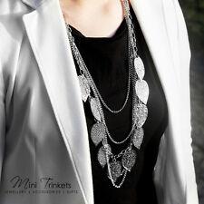 Para mujeres Bohemia Hojas Colgante Collar Largo Cadena De Cadena Multicapa Joyería