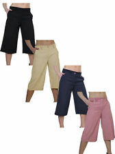 Unbranded Wide Leg Mid Rise Regular Size Trousers for Women