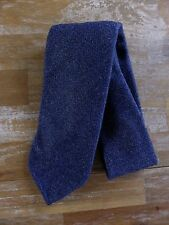 auth DRAKE'S Drakes of London blue self-tipped wool tie - NWOT