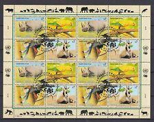 UNO Wien 1995 gestempelt MiNr. 180-183  Gefährdete Arten
