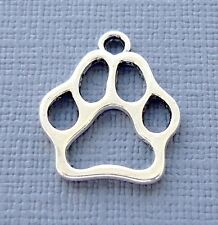 Lot 5 pcs Pendant Dangle Charm DOG PAW Silver tone Jewelry finding DIY K6