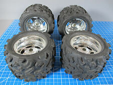 4 Pro-Line Big Joe 40 Series Monster Truck Tires 6 Spoke Wheels Super ClodBuster
