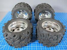 4 Pro-Line Big Joe 40 Series Monster Truck Tires 6 Spoke Wheels Super ClodBuster