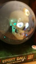 "NEW w/issues IN BOX Gemmy 9"" Globe Spirit Ball Animated Skull CREEPY Halloween"