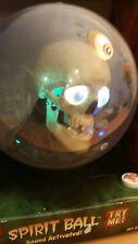 "NEW IN BOX Gemmy 9"" Globe Spirit Ball Animated Skull CREEPY Halloween"