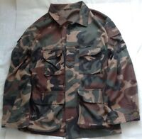 Oversized Green Black and Brown Cameo Print Military Jacket - Unbranded Size L
