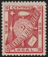 ✔️ ARGENTINA TIERRA DEL FUEGO 1891 - LOCAL POPPER - MI.1 ** MNH  €120 [16a]