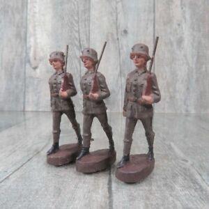 ELASTOLIN - Massefigur - 3 Soldaten marschierend - #C35840
