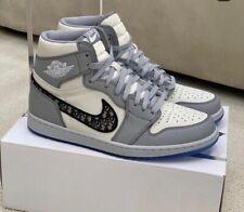 Air Jordan 1 Top Size 37 Sneakers Shoes White Grey CD