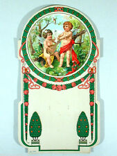 Jugendstil Art Nouveau KALENDER ° Abrisskalender Rückwand ° Träger ° sehr selten