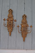Pair Of Friedman Brothers Decorative Gilt Wall Sconces #58