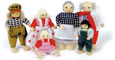 POSABLE STANDING  DOLL'S HOUSE ACCESSORY THE MILLERS FAMILY TOY DOLL SET OF 6