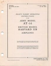 1943 AAF NOORDUYN AT-16 CANADIAN TEXAN PILOTS FLIGHT MANUAL AIRCRAFT HANDBOOK-CD