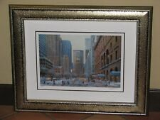 "Alexander Chen ""Park Avenue Winter"" Limited Edition Signed Framed Print"