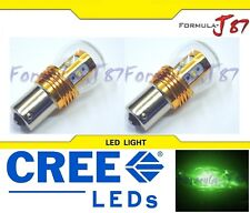 LED Light 25W 1156 Green Two Bulbs Rear Turn Signal Replacement Show Use JDM
