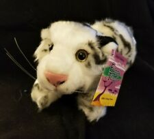 """Fuzzy Town Plush White Tiger - Safari Collection, 9"""" - NEW with Tags!"""