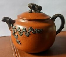 Chinese yixing teapot very fine signed to base with calligraphy