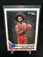 2019 Panini Donruss Rated Rookies Coby White Rookie RC #206, Chicago Bulls V63