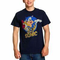 Men's Sonic The Hedgehog Super Sonic Distressed T-Shirt