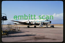 Original Slide, ALM Dutch Antillean Airlines Douglas DC-6BF (PJ-DSA), in 1973