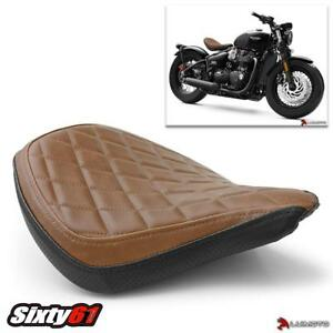 Triumph Bobber Seat Cover 2017-2020 Luimoto Brown Black Vintage Diamond Rider