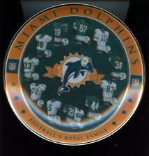 2000 Miami Dolphins Nfl Collector Plate Football Football's Royal Family