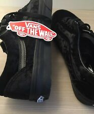 Vans Old Skool Black Velvet Men's 9 Brand New With Box Supreme