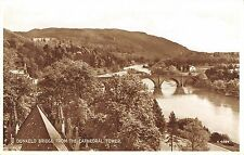 BR79850 dunkeld bridge from the cathedral tower  real photo scotland