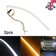 2x 45cm LED DRL Strip Light Sequential DRL Daytime Running Turn Signal lights UK