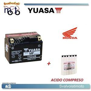 BATTERIA YUASA  TTZ12S CON ACIDO PER HONDA 250 TRX X 2002 > 2010