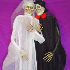 7ft Life Size Hanging Bride & Groom Skeletons~Halloween Yard Decoration~NEW