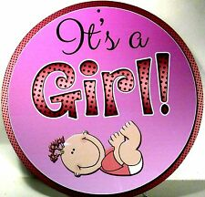 Novelty Baby Sign It's A Girl New Aluminum Baby Made in U.S.A. C-0640