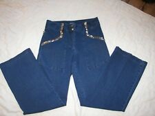 Women's Forenza Stretch Denim Pants / Jeans with Sequins Trim - Size 8