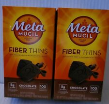 2 Pack METAMUCIL fibra dirada, cioccolato, 12 CT/box exp 2/2022