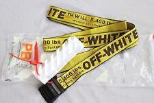 neu Cintura cravatta industriale off white Fibbia in-ferro giallo in 100-200CM