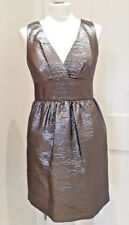 FRENCH CONNECTION Silver Bow Cocktail Dress Size 10 Metallic Party Prom Ball
