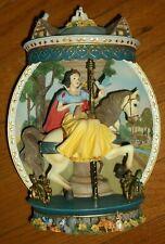 Rare Bradford Exchange Disney Princess Carousels Horse Snow White 3D Plate