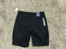 "New With Tags Gap Ladies Shorts Sz 8 ""Bermuda Shorts"" Mid-Rise 10"" inseam Black"