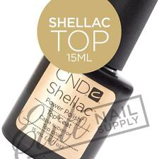 CND SHELLAC Top Coat 15ml - Large Size + FREE CND Foil Remover Wraps 10ct