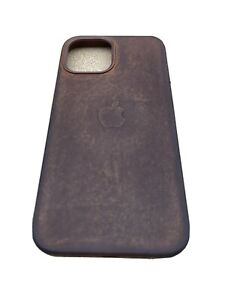 genuine apple iphone 12 pro max leather case Magsafe. Patina Enhanced. Brown