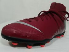 Nike Mercurial Superfly 6 Mg Soccer Cleats Size 4.5 Youth Red Maroon Ah7339-606