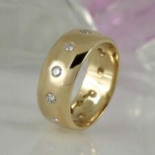 Echtschmuck im Band-Stil aus Gelbgold für Damen mit VS Reinheit Ringe