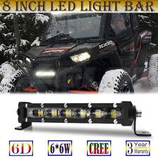 6D 8 INCH LED Lighr Bar Work Light CREE Chips for Polaris Arctic Cat UTV ATV UTE