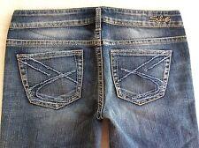 New SILVER Jeans Sale Buckle Low Rise Frances Cropped Capri Stretch Jean 28 X 23