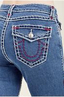 True Religion Women's Curvy Super T Skinny Fit Stretch Jeans w/ Flap Pockets