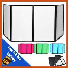 Foldable Disco DJ Lighting Screen 4 Panel Deck Stand Booth