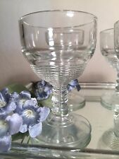 Depression Glass ?  6 Cordial/Apertif Tally Ho Pattern Glasses